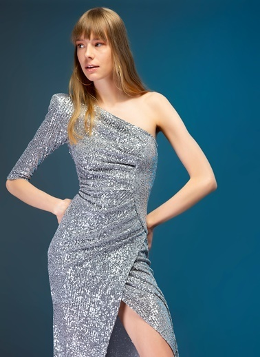 Tuvanam X Fabrika Elbise Gümüş